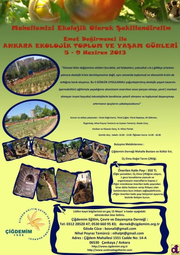 Emet Değirmenci ile Ankara Ekolojik Toplum ve Yaşam Günleri