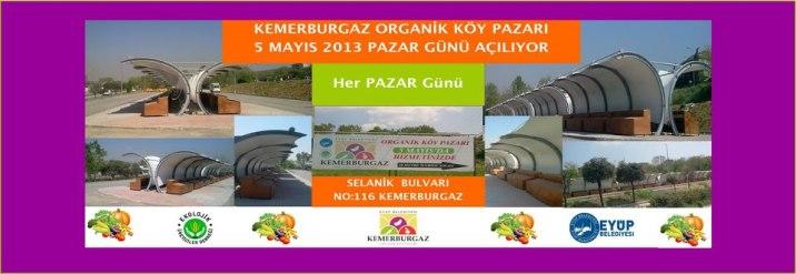 Kemerburgaz Organik Köy Pazarı Açılıyor
