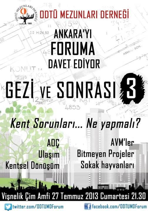 Ankara'ya Foruma Davetlisiniz