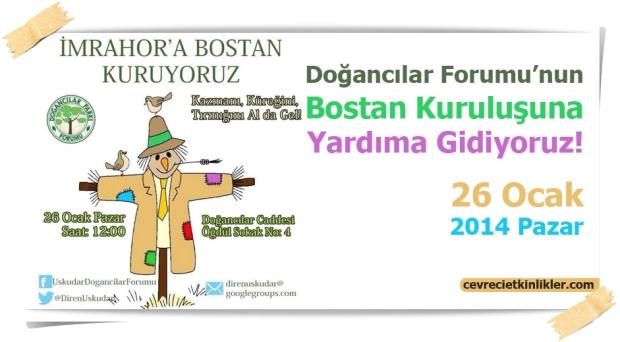Doğancılar Forumu'nun Bostan Kuruluşuna Yardıma Gidiyoruz!