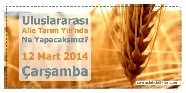 Uluslararası Aile Tarım Yılı'nda Ne Yapacaksınız?
