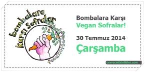 Bombalara Karşı Vegan Sofralar!