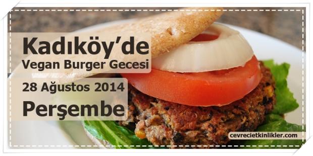 Kadıköy'de Vegan Burger Gecesi